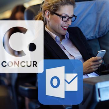 concur and outlook for business travel