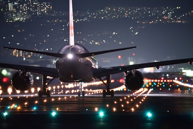 Holiday Travel - airport and airplane taxi