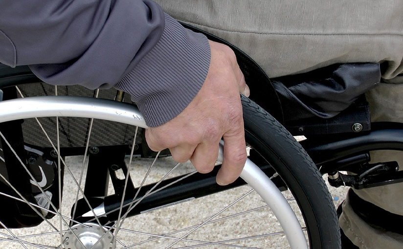 an in wheelchair at airport