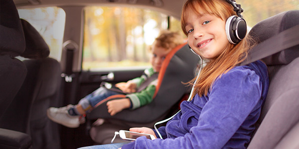 Private Car Service CT children in car