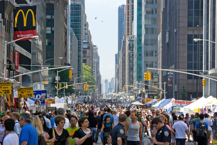 Street fair and festival in New York City