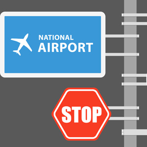 Airport Road Signs
