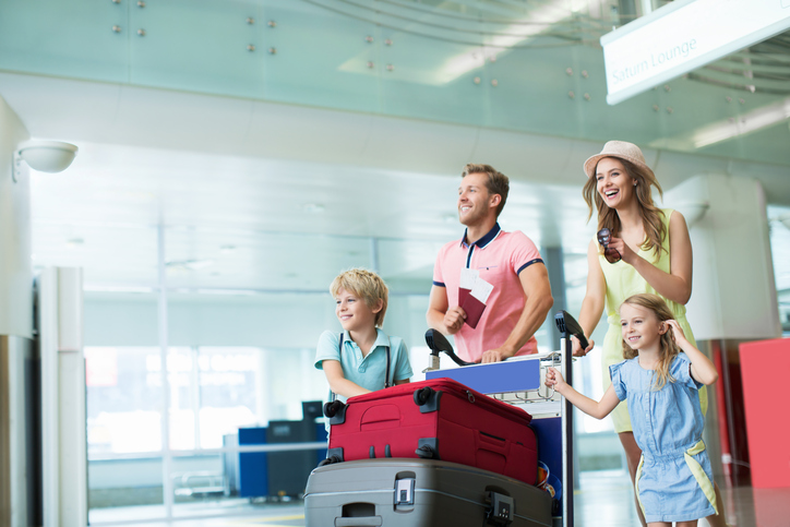 Travelling with children at JFK airport